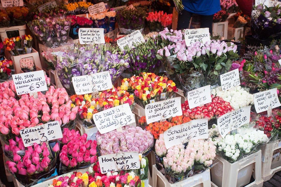 Marché aux fleurs d'Amsterdam ©YuG/Shutterstock