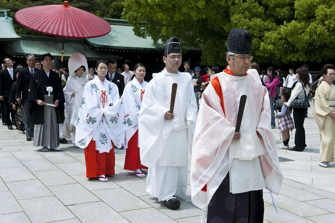 Un mariage japonais au sanctuaire de Meiji Jingu, Tokyo