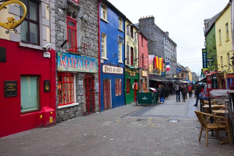 Une rue de Galway, Irlande road trip