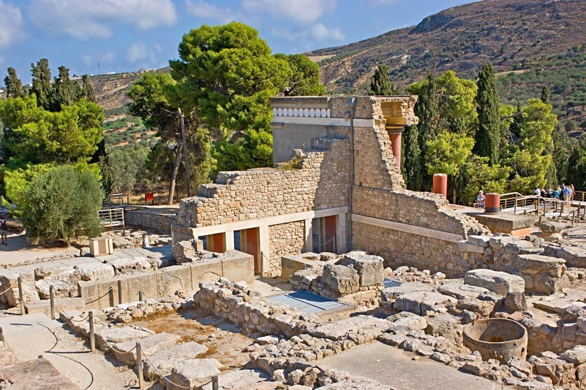 Le palais de Knossos, Crète