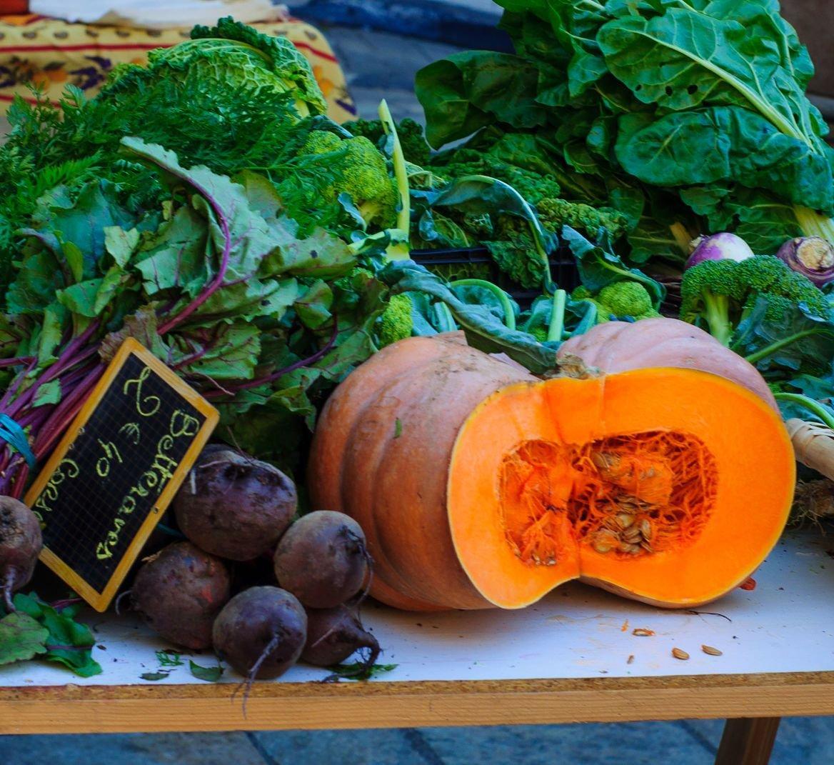 Légume sur le marché de Basta, Corse