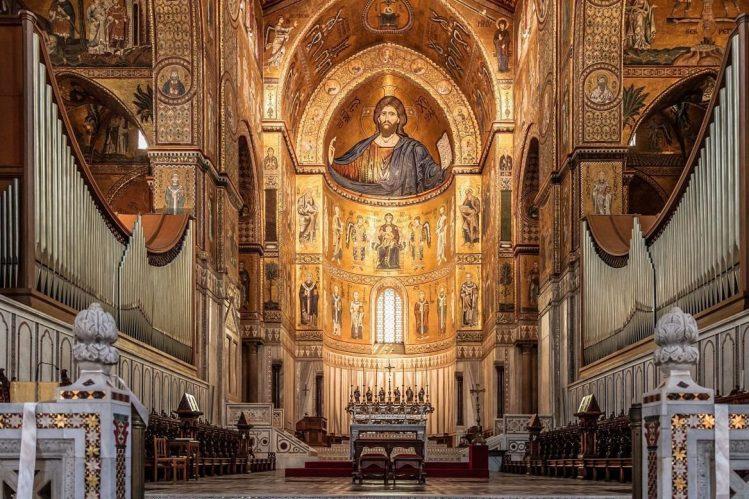 Basilique Santa Maria Nuova, Monreale, Sicile itinéraires