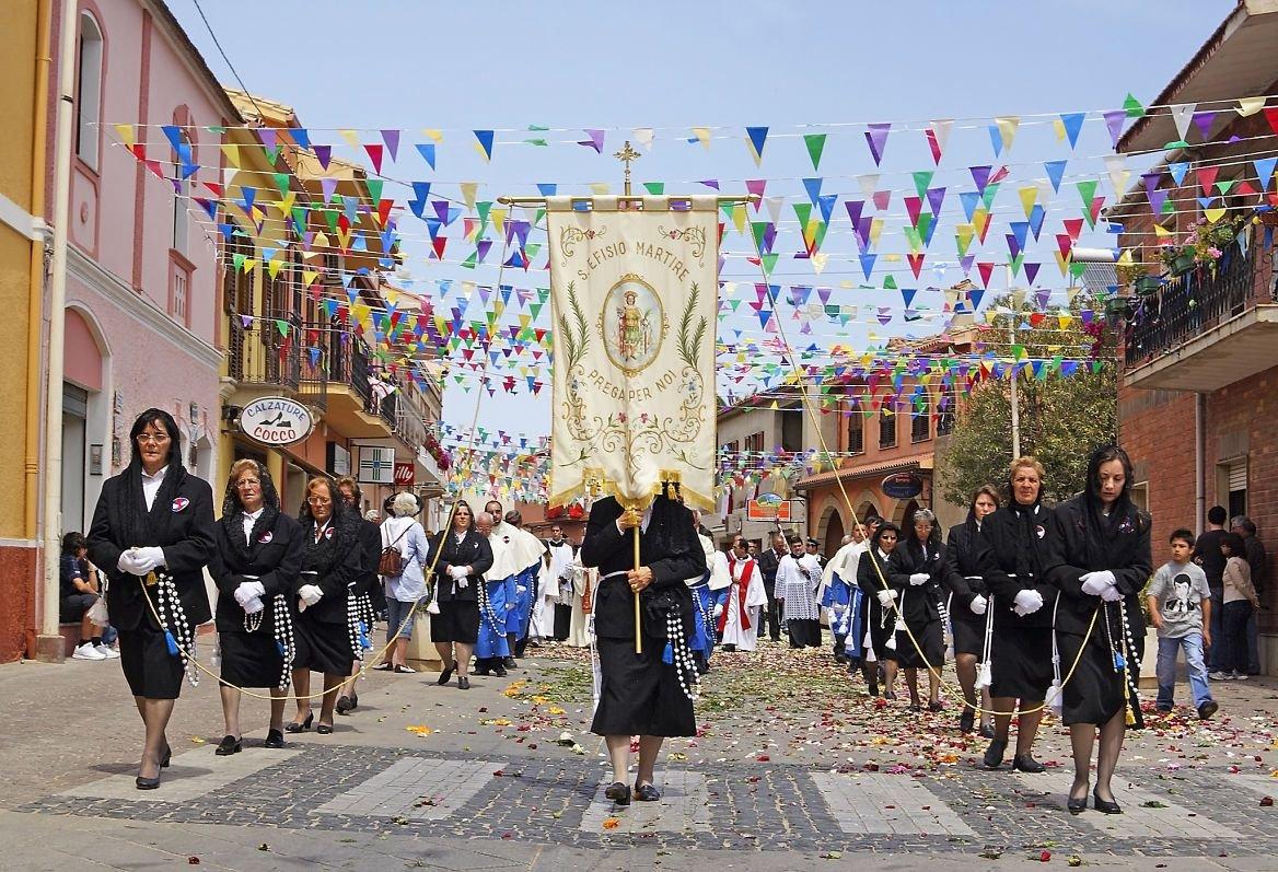 Une procession de Cagliari à Nora, Sardaigne