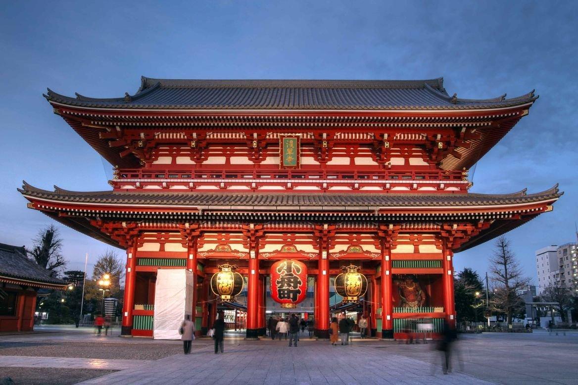 Le temple du Senso-ji à Tokyo, Japon