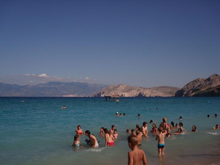 Plages de Baska, Croatie