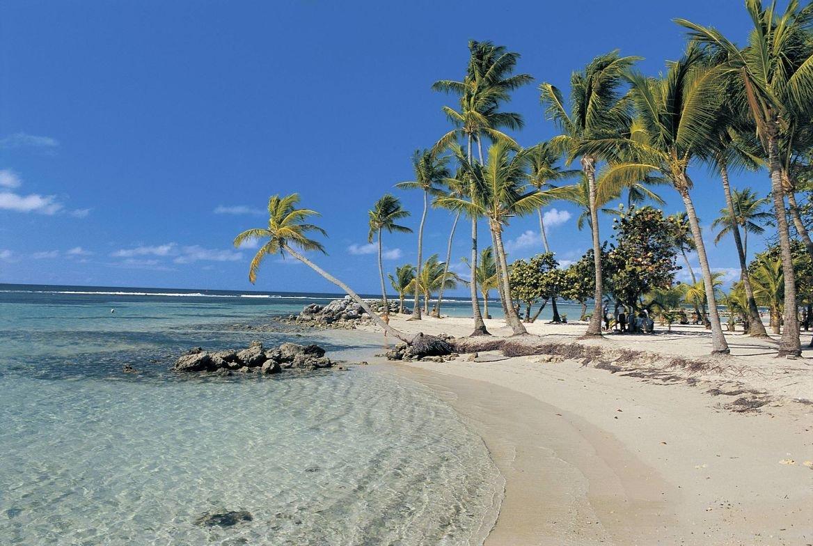 La plage municipale de Sainte-Anne, Grande-Terre, Guadeloupe