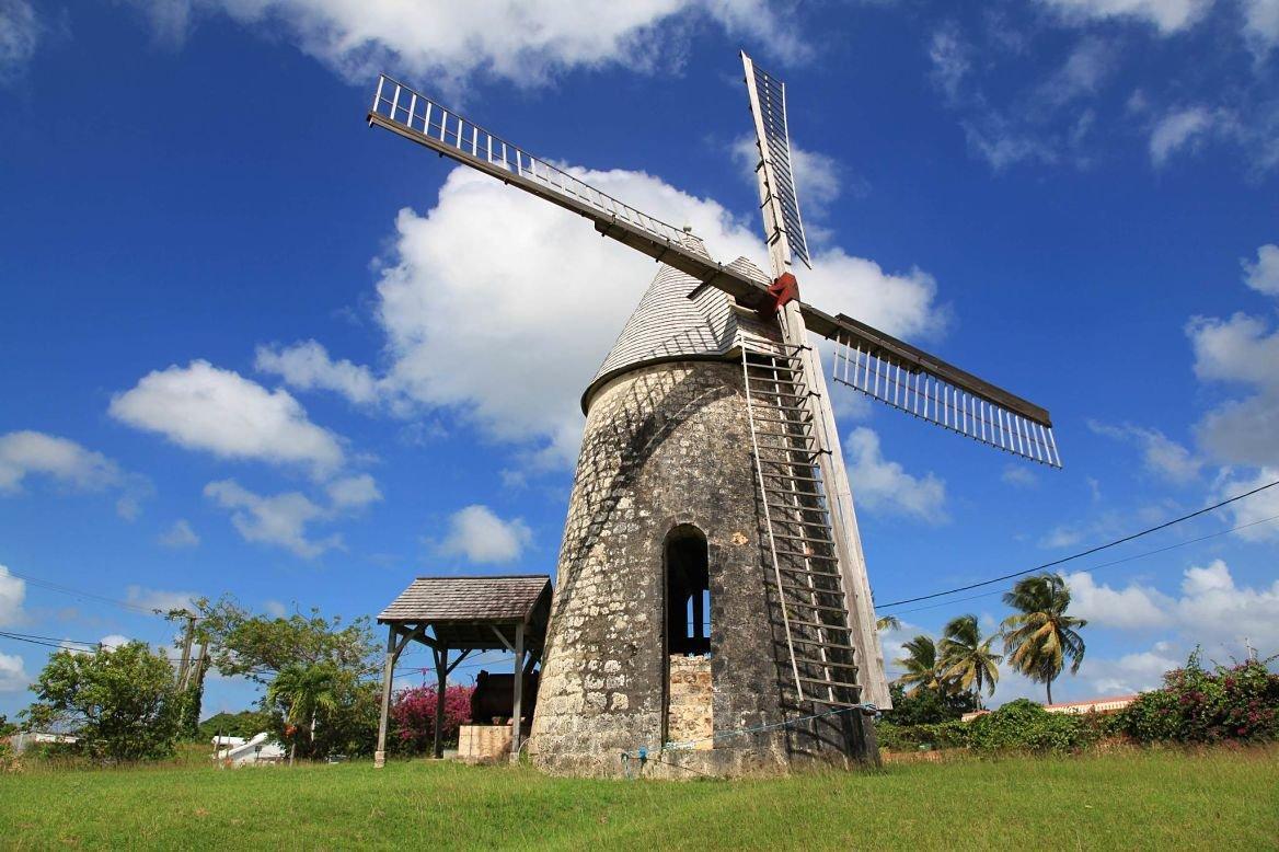 Ancien moulin à vent à Marie-Galante, Guadeloupe