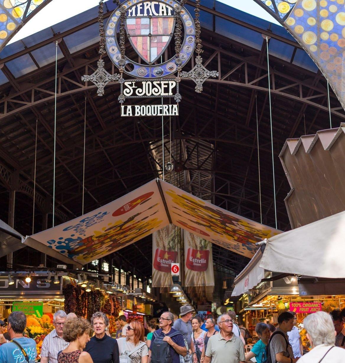 Marché Mercat de la Boqueria, Barcelone, Espagne