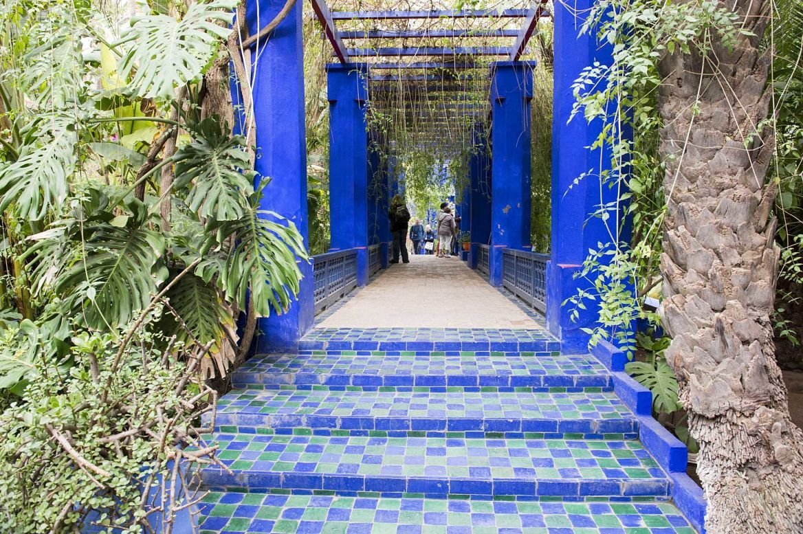 jardin majorelle dans les pas d yves saint laurent le blog evasion. Black Bedroom Furniture Sets. Home Design Ideas
