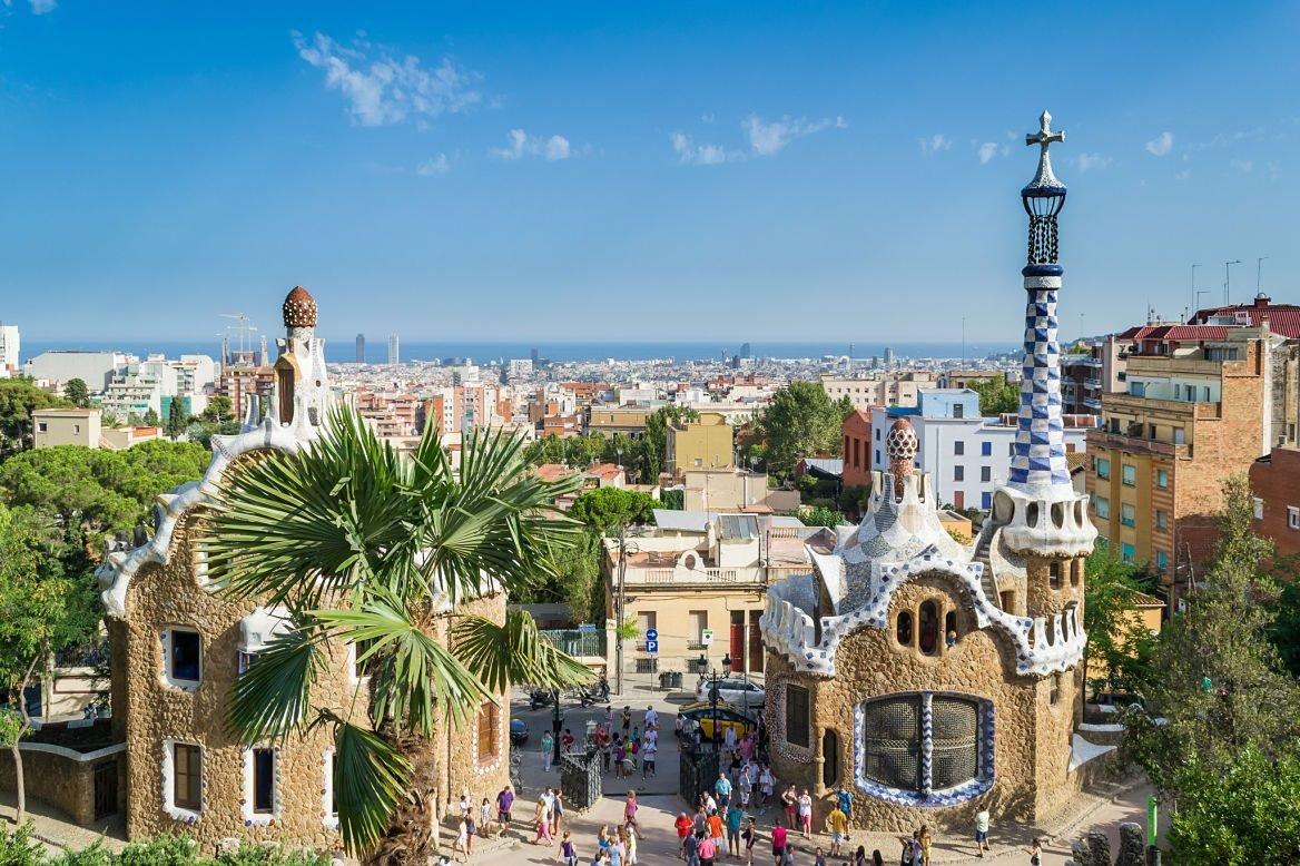 Parc Guell de Gaudi, Barcelone, Espagne