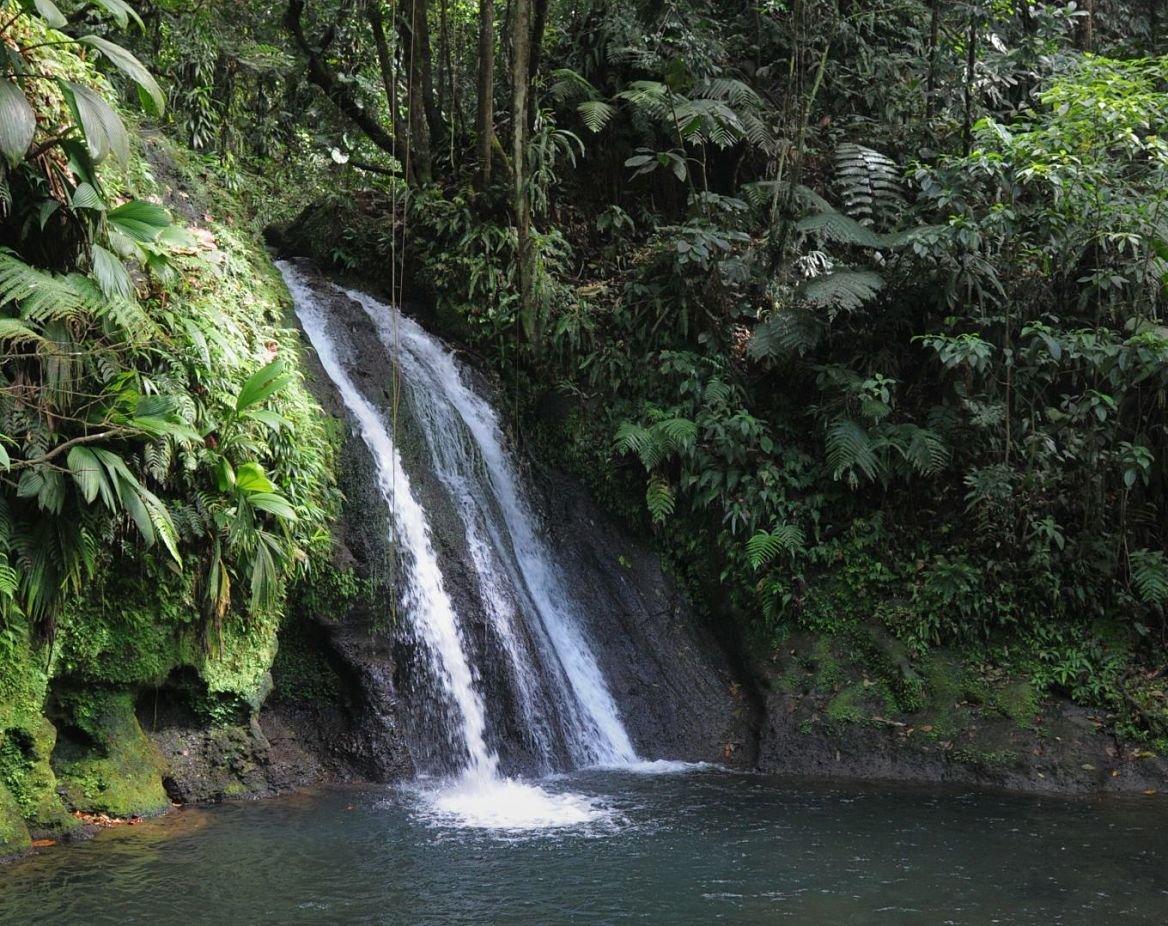 La cascade aux Écrevisses, la route de la Traversée, Base-Terre, Guadeloupe