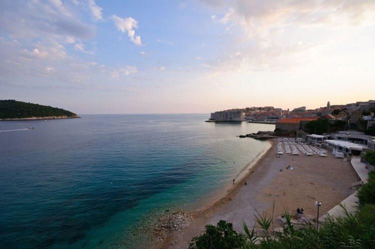 Plages de Banje Beach, île de Dubrovnik, Croatie