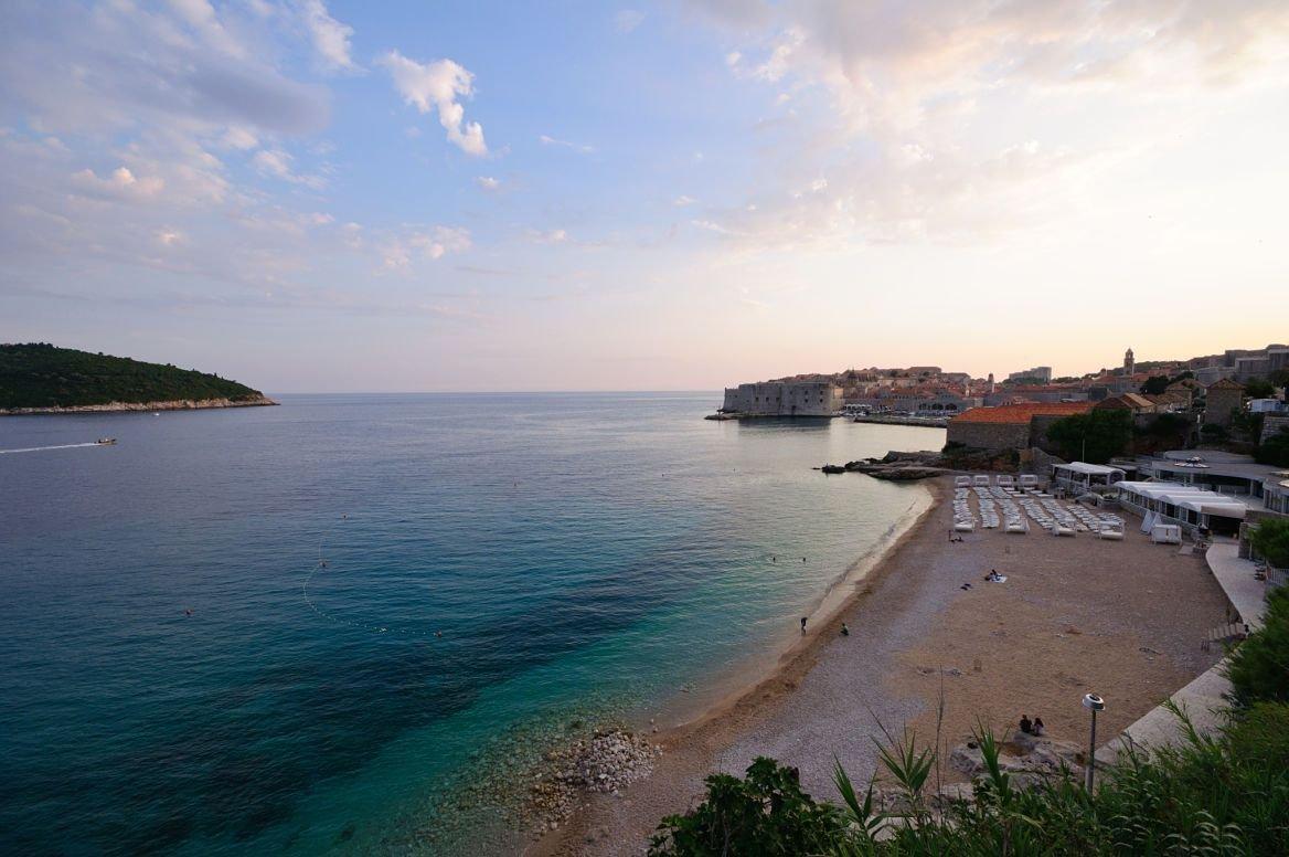 Plage de Banje Beach, île de Dubrovnik, Croatie