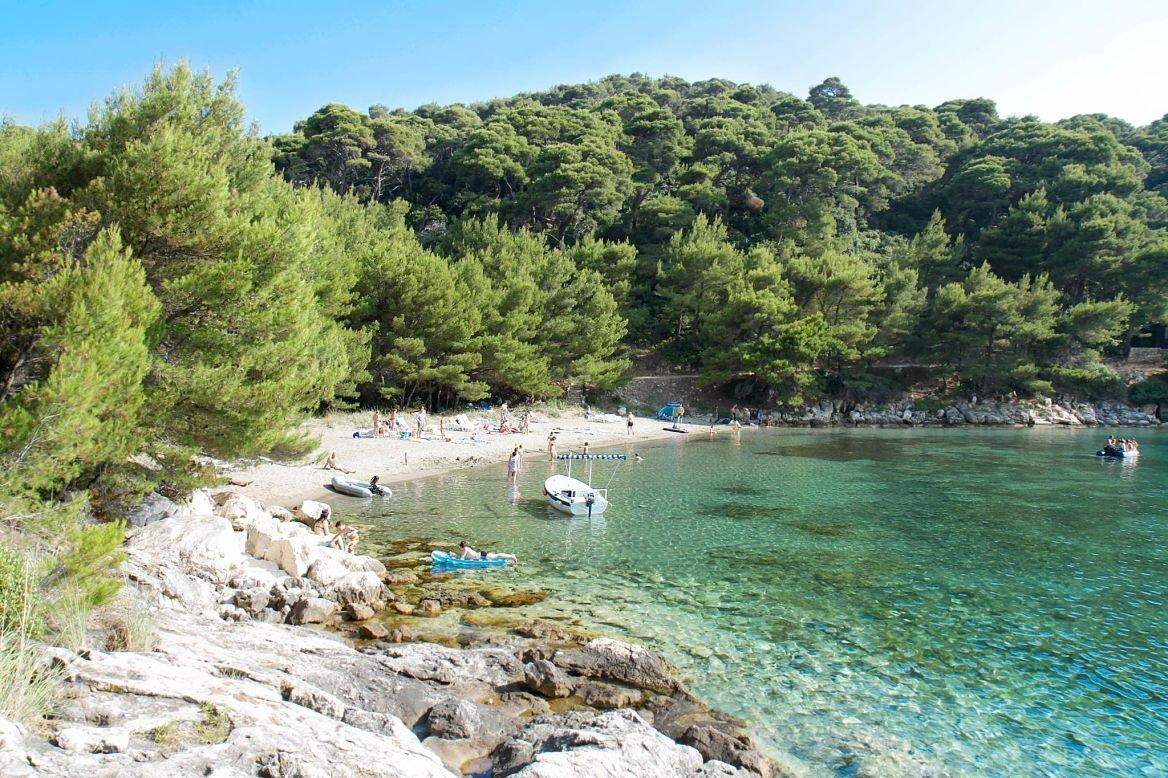 Plage de Saplunara, île de Mljet, Croatie