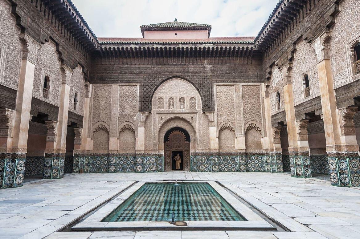 La medersa Ben-Youssef, Marrakech, Maroc