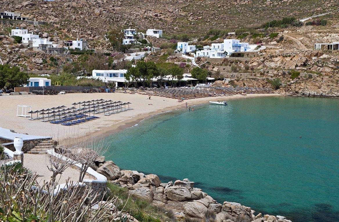 Plage Super Paradise de Mykonos, Grèce