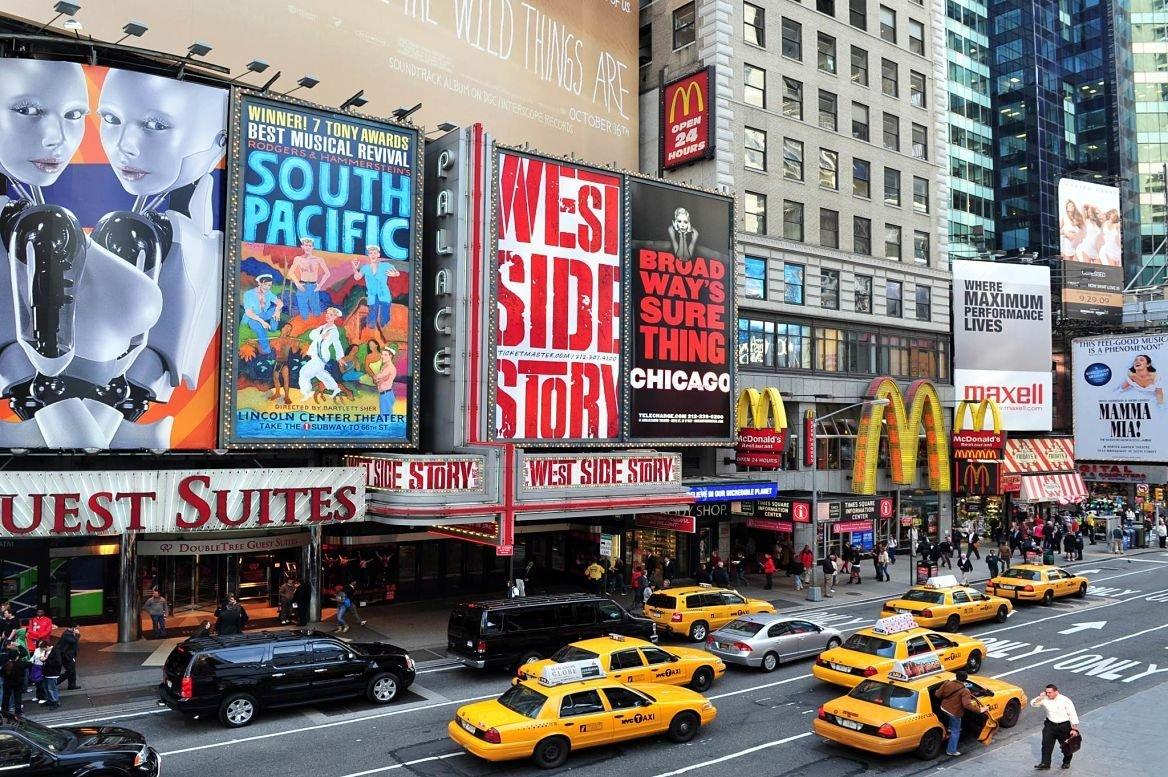 Broadway Theater District, New York, Etats-Unis