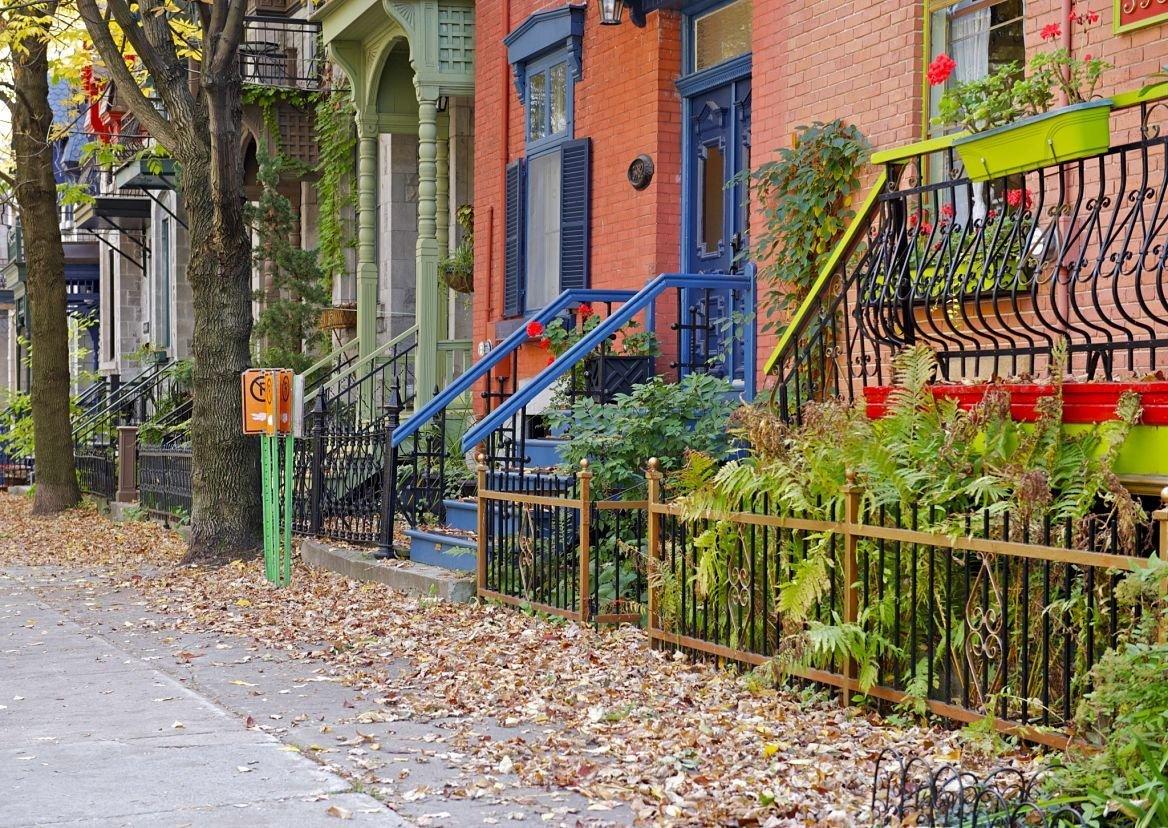 Quartier du plateau Mont-Royal, Montréal, Québec