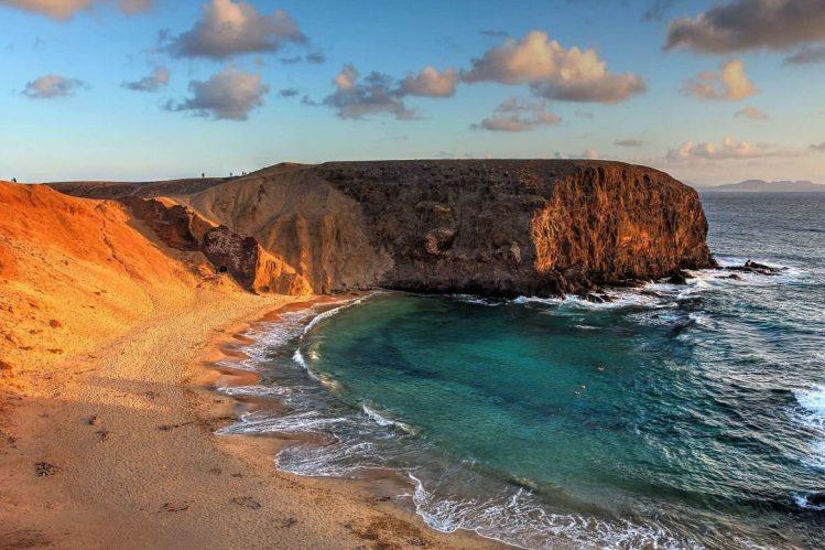 Plage Papagayo, île de Lanzarote, Canaries, Espagne