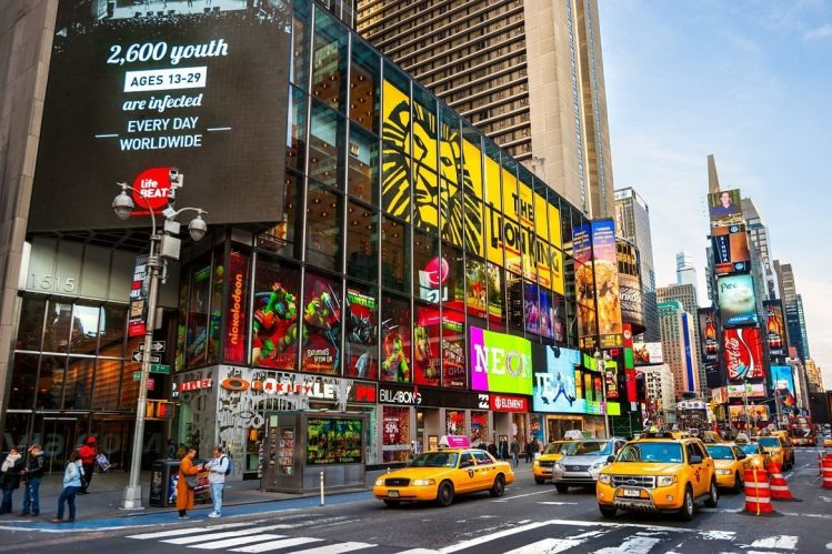 Time Square, New York, Eats-Unis incontournables