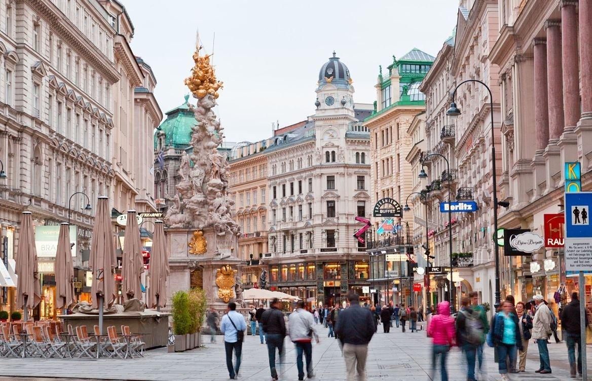 Le quartier du Graben, Vienne, Autriche