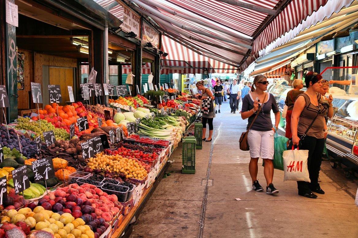 Le Naschmarkt, Vienne, Autriche