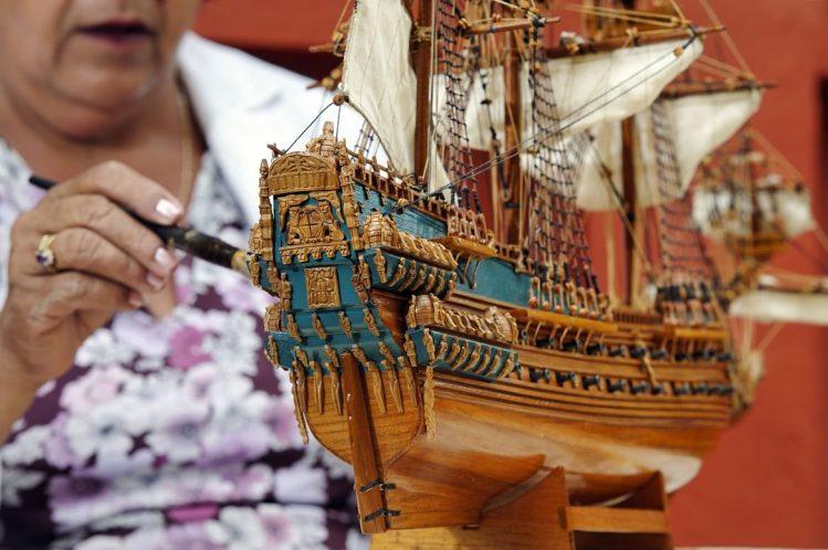 Maquette de bateau, un souvenir à rapporter de Maurice ©Jean-Pierre Degas/Hemis.fr