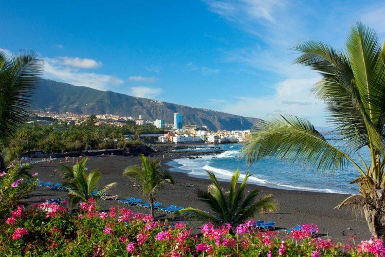 playa de jardin puerto de la cruz tenerife, îles Canaries