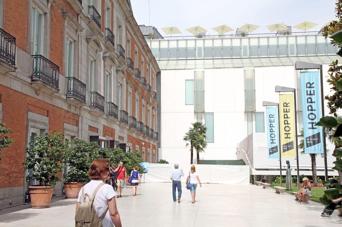 L'exposition de Hopper au musée Thyssen à Madrid en Espagne.