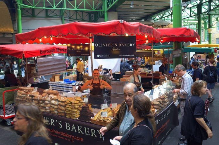 Stand du Borough Market, marchés de Londres