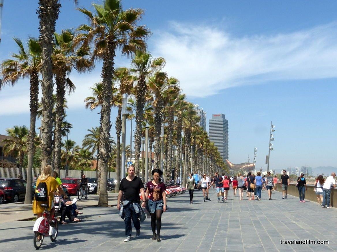 Promenade le long de la plage de Barcelone ©Emily de Travel and Film