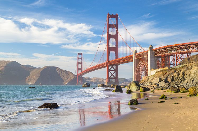 baker beach golden gate bridge Californie plage San Francisco