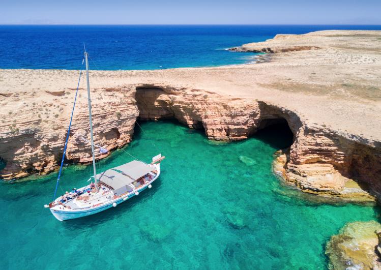 plages cyclades bateau mer