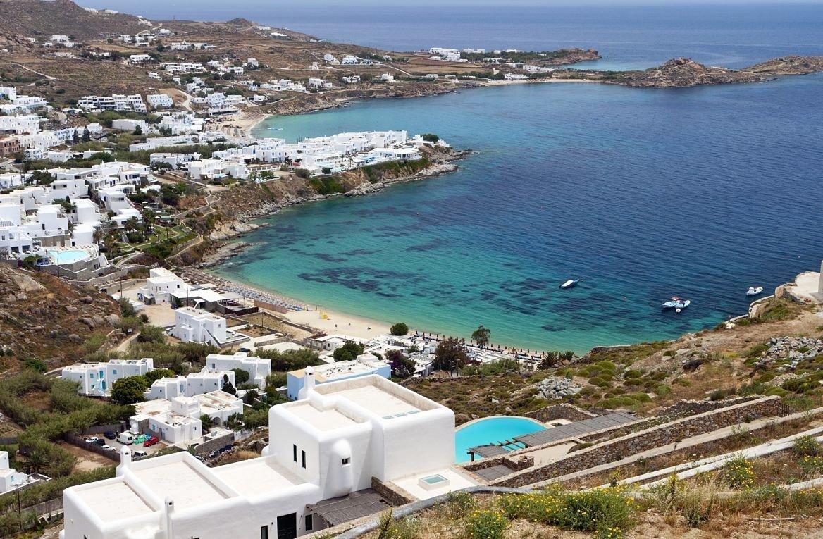 Plage de Psarou, Cyclades