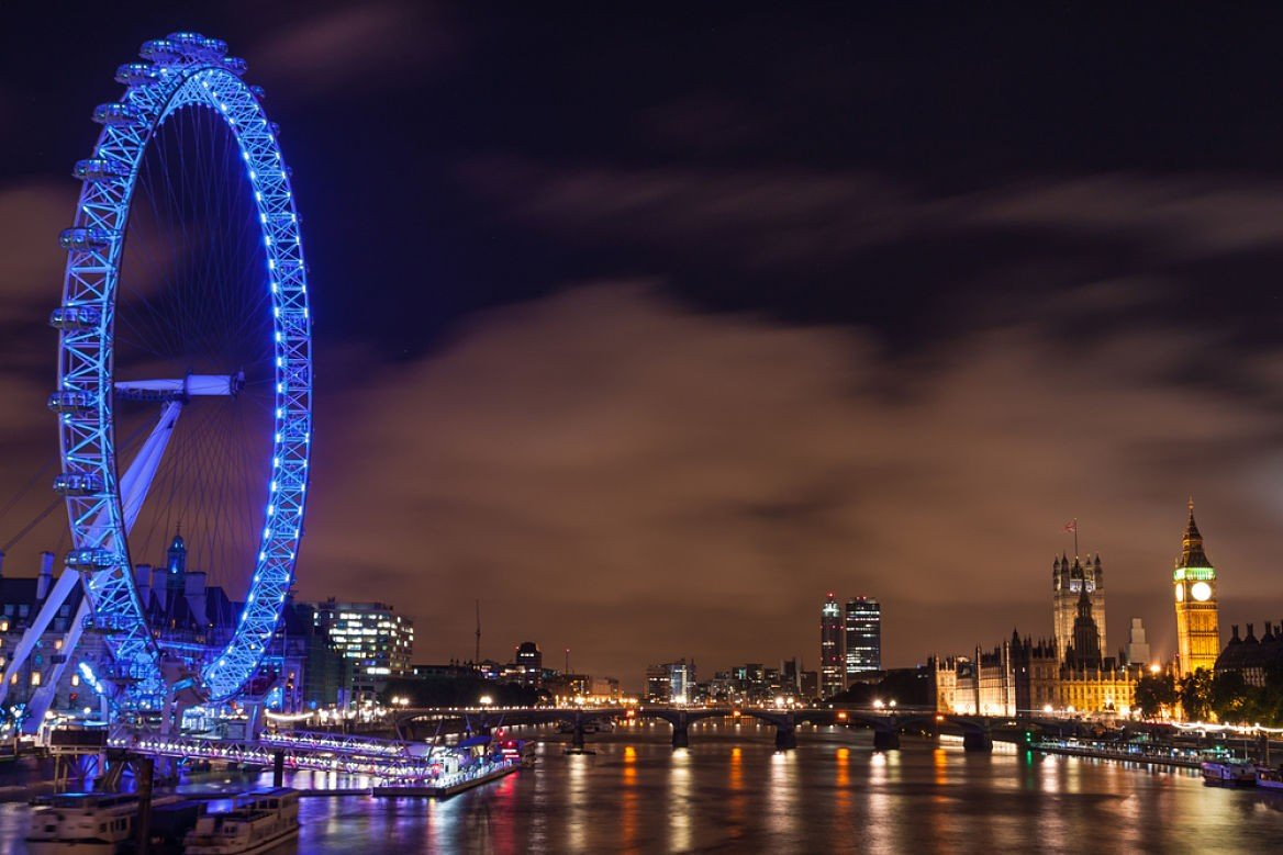 Vue sur le London Eye, Londres