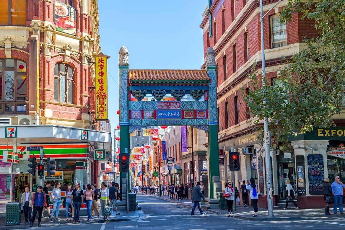 Quartier de Chinatown, Melbourne, Australie