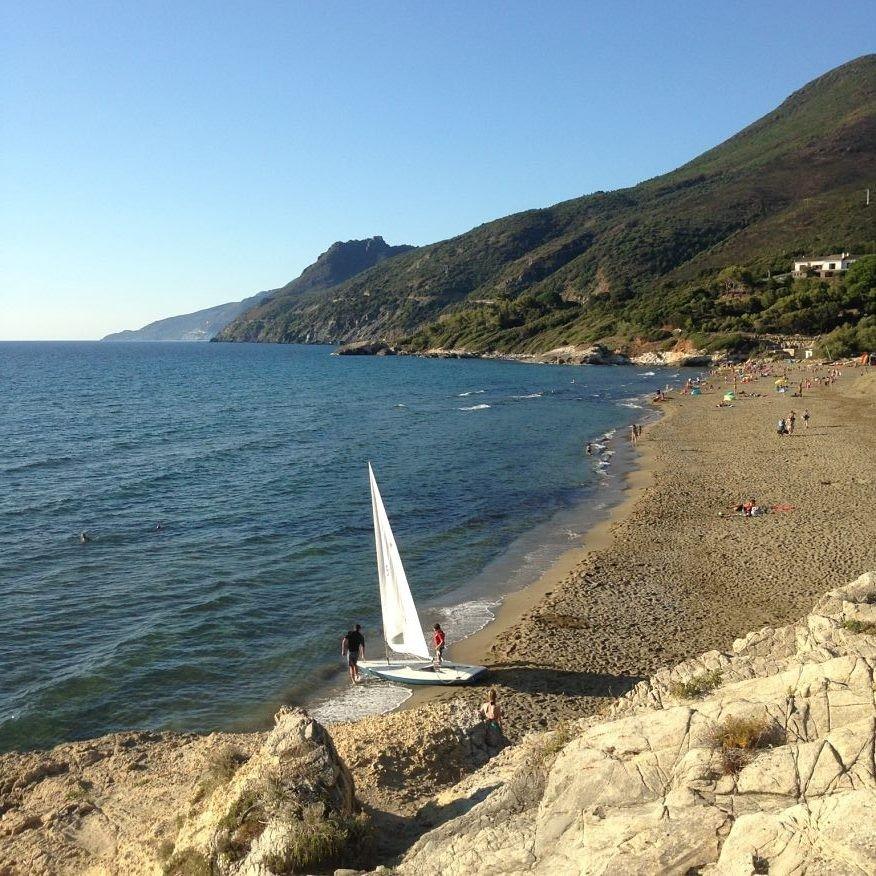 La plage de Farinole, Corse