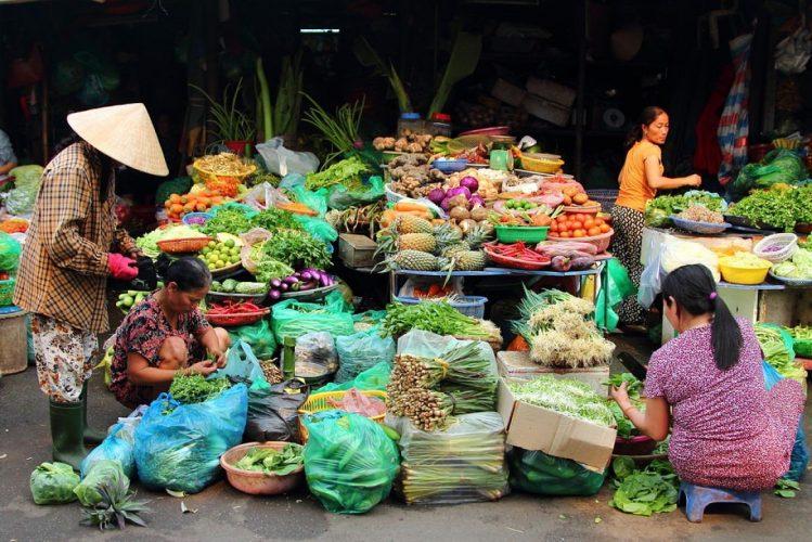 Marché Dong Ba, Hué, Vietnam marchés