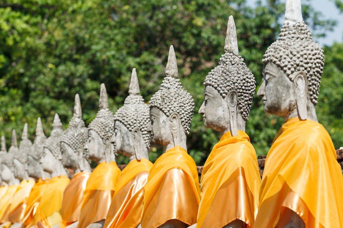 Statues de Bouddha, Ayutthaya, Thaïlande