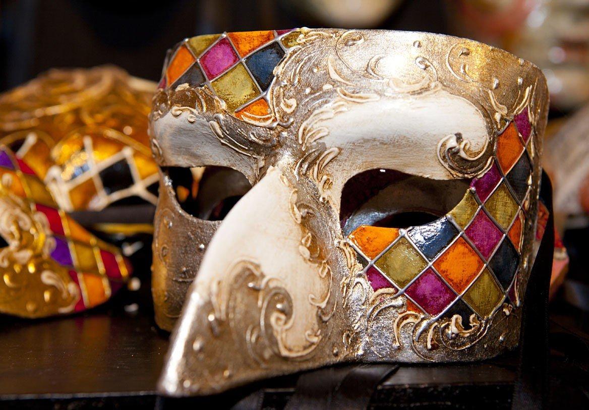 Masque typique du carnaval, Venise, Italie