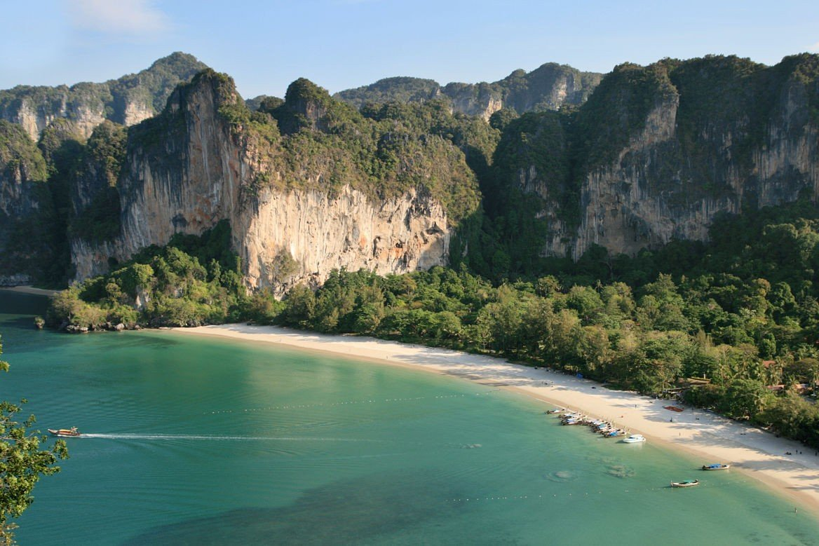 La plage de Rai Ley, Krabi, Thaïlande