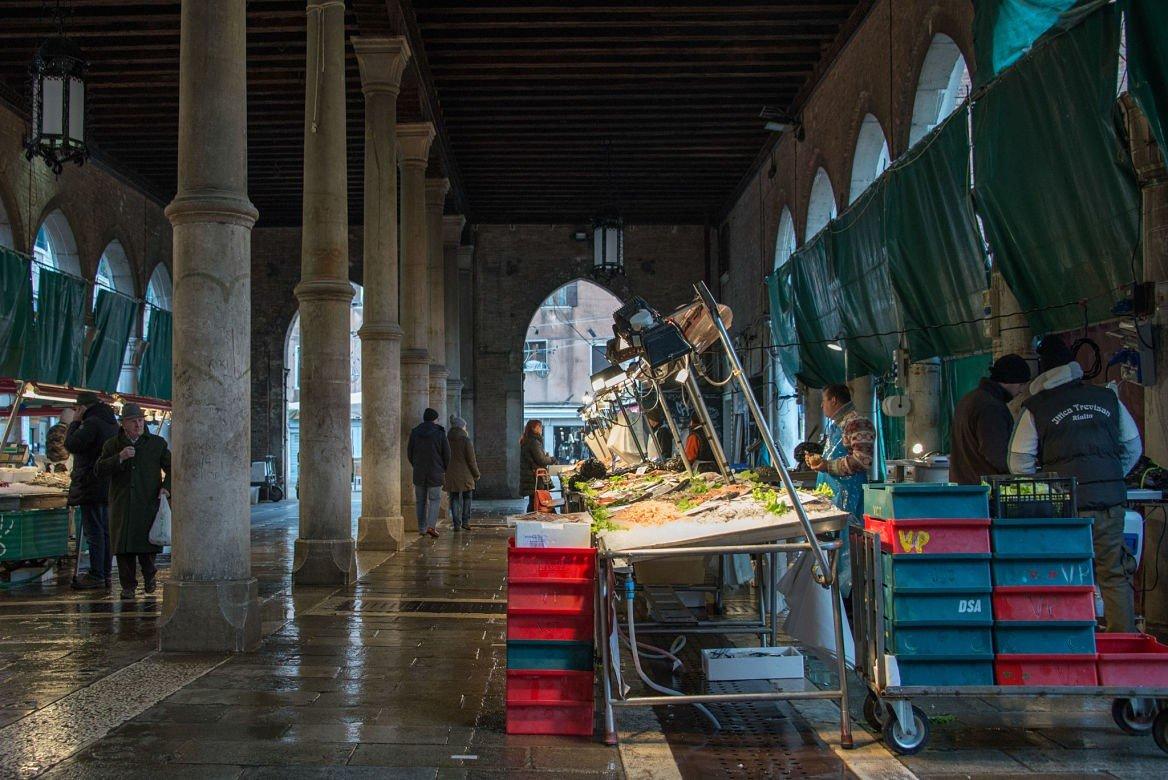 Le marché avant les cours de cuisine, Venise, Italie