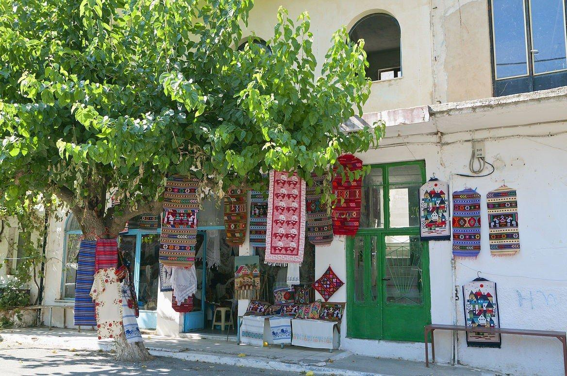 Boutique dans le village d'Anogia, Crète