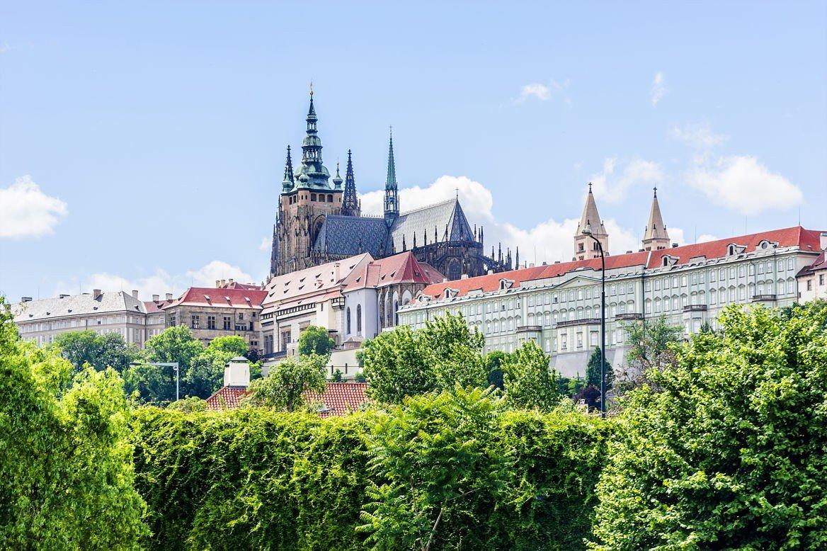 Vue sur le château de Prague, République tchèque