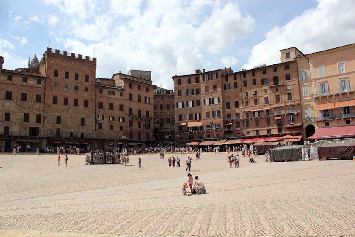 La piazza del Campo à Sienne