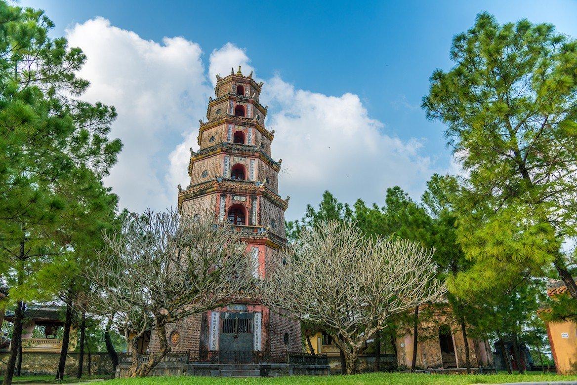 La pagode de la Dame céleste à Hué