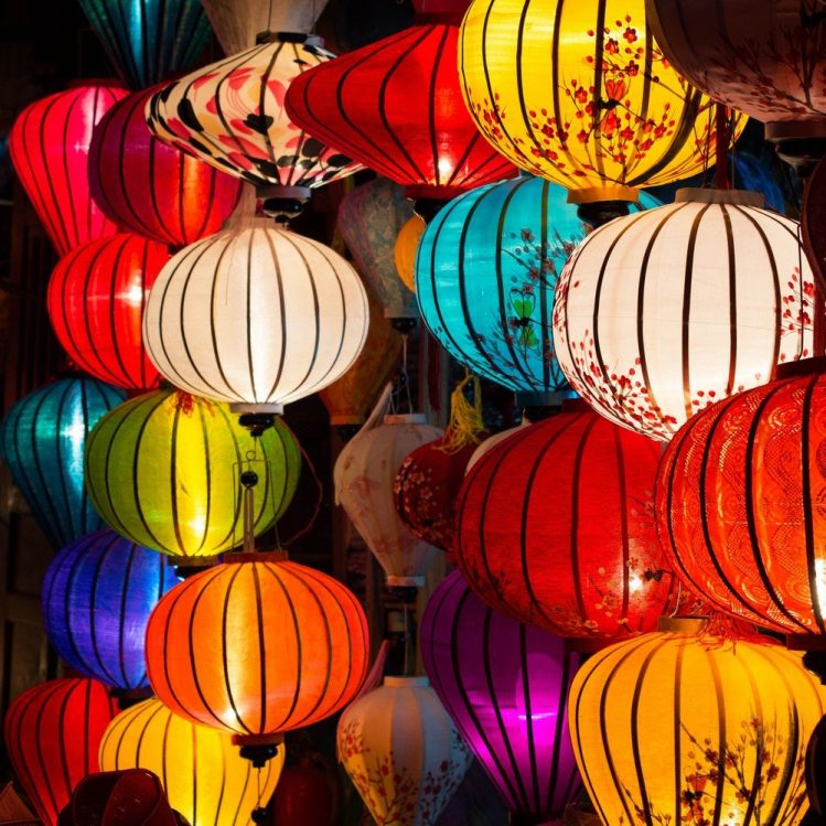 Lampes traditionnelles à Hoi An