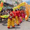 Danse pour le nouvel an Chinois à Ho Chi Minh Ville