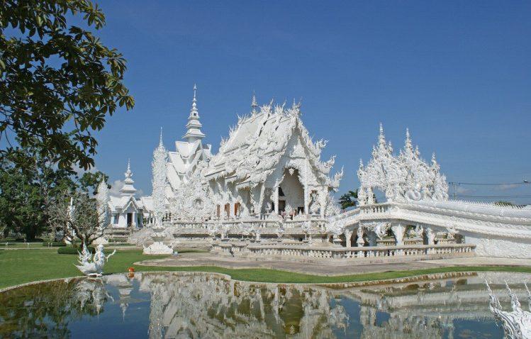 Le Temple blanc, dans les environs de Chiang Raï, ville irrésistible de Thaïlande