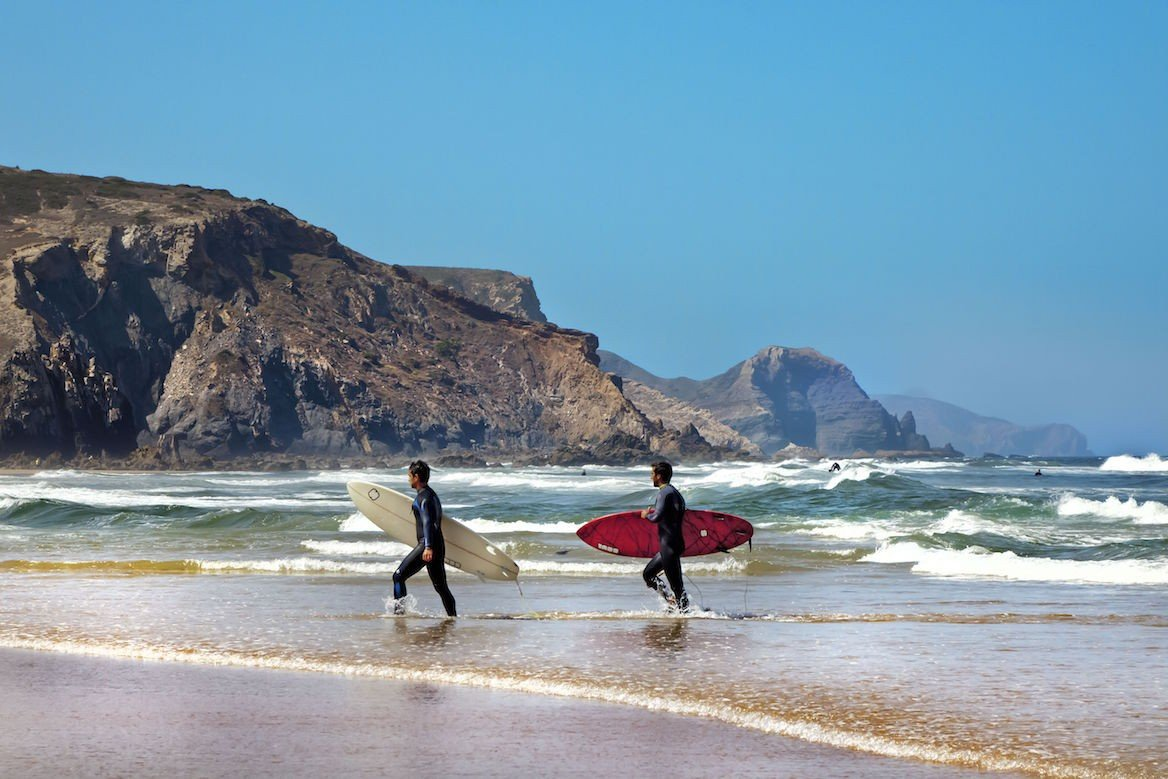 Surf à praia do Amado, sur la côte vicentine